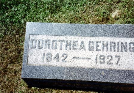 GEHRING, DOROTHEA - Crawford County, Iowa | DOROTHEA GEHRING