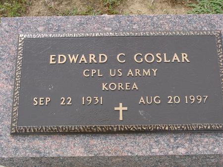 GOSLAR, EDWARD C. - Crawford County, Iowa   EDWARD C. GOSLAR