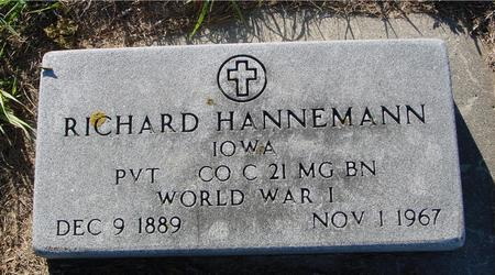 HANNEMAN, RICHARD - Crawford County, Iowa | RICHARD HANNEMAN
