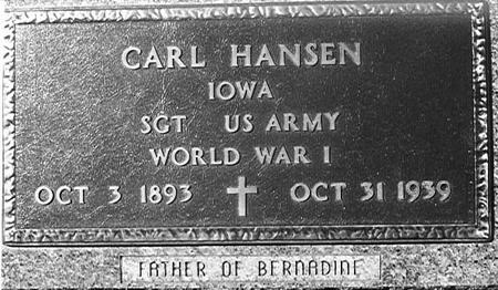 HANSEN, CARL - Crawford County, Iowa | CARL HANSEN
