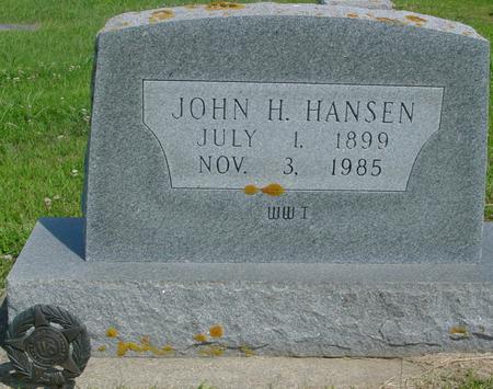 HANSEN, JOHN H. - Crawford County, Iowa | JOHN H. HANSEN