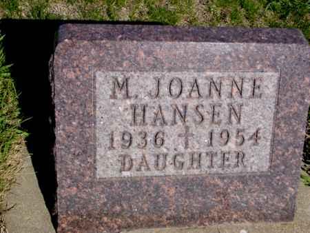 HANSEN, M. JOANNE - Crawford County, Iowa | M. JOANNE HANSEN