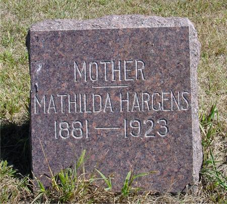 HARGENS, MATHILDA - Crawford County, Iowa | MATHILDA HARGENS