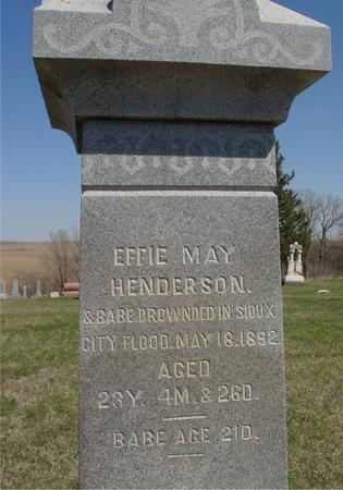HENDERSON, EFFIE MAY & BABE - Crawford County, Iowa | EFFIE MAY & BABE HENDERSON