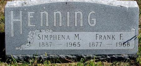 HENNING, FRANK & SIMPHENA - Crawford County, Iowa | FRANK & SIMPHENA HENNING