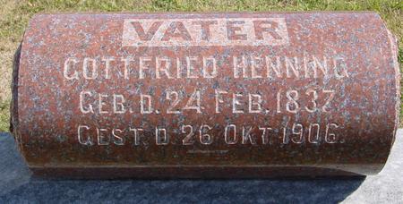HENNING, GOTTFRIED - Crawford County, Iowa | GOTTFRIED HENNING