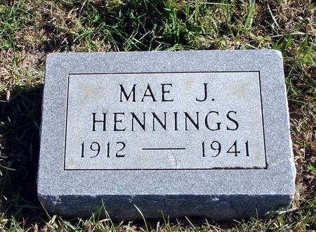 HENNINGS, MAE J. - Crawford County, Iowa | MAE J. HENNINGS