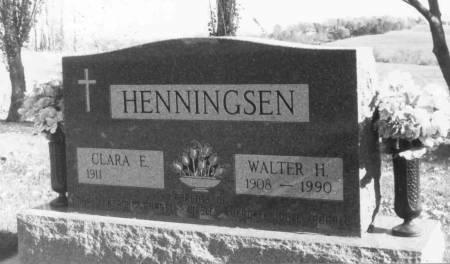 HENNINGSEN, CLARA - Crawford County, Iowa | CLARA HENNINGSEN