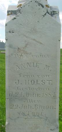 HOLST, ANNIE M. - Crawford County, Iowa | ANNIE M. HOLST