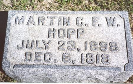 HOPP, MARTIN C. F. W. - Crawford County, Iowa | MARTIN C. F. W. HOPP