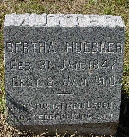 HUEBNER, BERTHA - Crawford County, Iowa | BERTHA HUEBNER