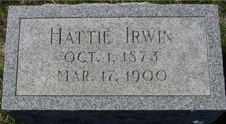 IRWIN, HATTIE - Crawford County, Iowa | HATTIE IRWIN