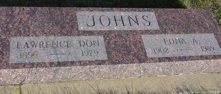 JOHNS, LAWRENCE & EDNA - Crawford County, Iowa | LAWRENCE & EDNA JOHNS