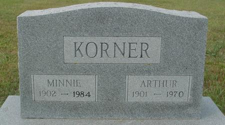 KORNER, ARTHUR & MINNIE - Crawford County, Iowa | ARTHUR & MINNIE KORNER