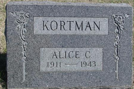 KORTMAN, ALICE C. - Crawford County, Iowa | ALICE C. KORTMAN