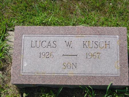 KUSCH, LUCAS W. - Crawford County, Iowa | LUCAS W. KUSCH