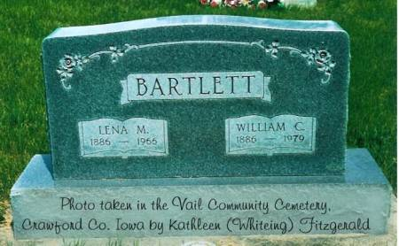 BARTLETT, LENA M. (BOHNKER) & WILLIAM C. - Crawford County, Iowa | LENA M. (BOHNKER) & WILLIAM C. BARTLETT