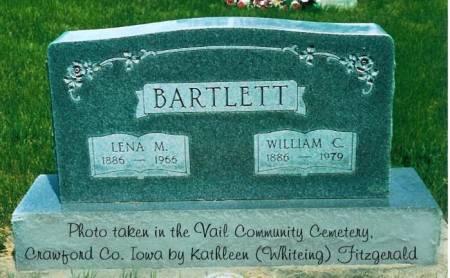 BARTLETT, LENA M. (BOHNKER) & WILLIAM C. - Crawford County, Iowa | LENA M. (BOHNKER) & WILLIAM C. BARTLETT