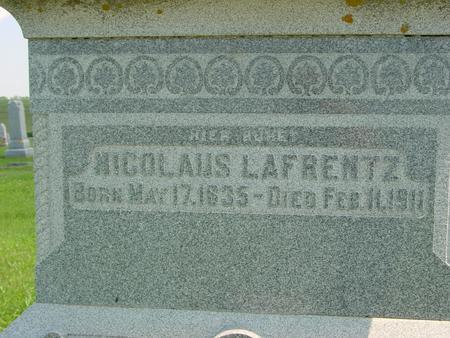 LAFRENTZ, NICOLAUS - Crawford County, Iowa | NICOLAUS LAFRENTZ