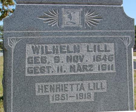 LILL, WILHELM & HENRIETTA - Crawford County, Iowa | WILHELM & HENRIETTA LILL