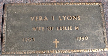 LYONS, VERA I. - Crawford County, Iowa | VERA I. LYONS
