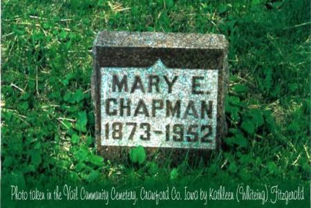 CHAPMAN, MARY E. (NELSON) - Crawford County, Iowa | MARY E. (NELSON) CHAPMAN
