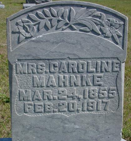 MAHNKE, MRS. CAROLINE - Crawford County, Iowa | MRS. CAROLINE MAHNKE