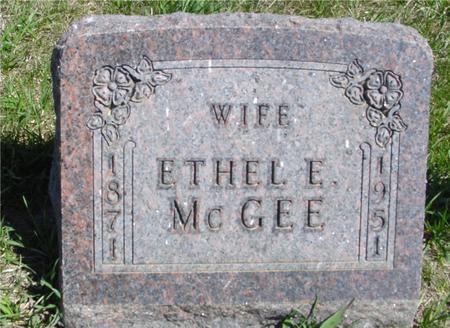 MCGEE, ETHEL E. - Crawford County, Iowa | ETHEL E. MCGEE