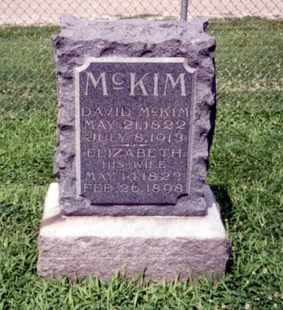 MCKIM, DAVID AND ELIZABETH - Crawford County, Iowa | DAVID AND ELIZABETH MCKIM