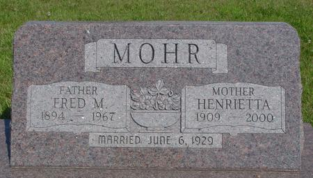 MOHR, FRED & HENRIETTA - Crawford County, Iowa | FRED & HENRIETTA MOHR
