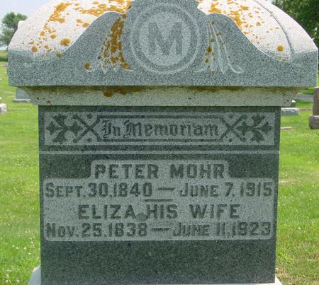 MOHR, PETER & ELIZA - Crawford County, Iowa | PETER & ELIZA MOHR