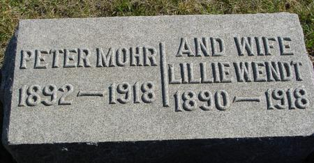 MOHR, PETER & LILLIE - Crawford County, Iowa | PETER & LILLIE MOHR