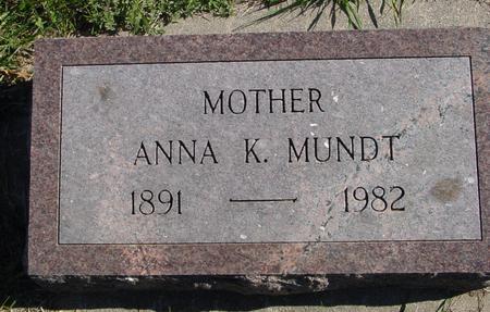 MUNDT, ANNA K. - Crawford County, Iowa | ANNA K. MUNDT