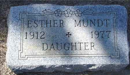 MUNDT, ESTHER - Crawford County, Iowa | ESTHER MUNDT