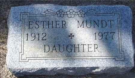 MUNDT, ESTHER - Crawford County, Iowa   ESTHER MUNDT