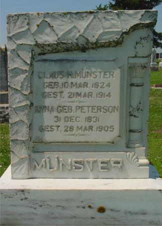 MUNSTER, CLAUS H. - Crawford County, Iowa   CLAUS H. MUNSTER