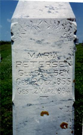 PETERSEN, MARIA - Crawford County, Iowa | MARIA PETERSEN