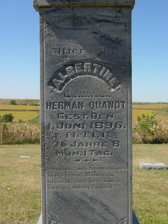 QUANDT, ALBERTINE - Crawford County, Iowa | ALBERTINE QUANDT
