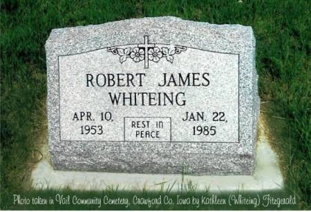 WHITEING, ROBERT JAMES - Crawford County, Iowa | ROBERT JAMES WHITEING