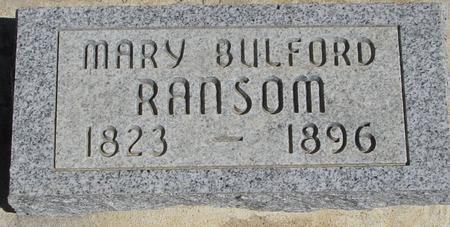 BULFORD RANSOM, MARY - Crawford County, Iowa | MARY BULFORD RANSOM
