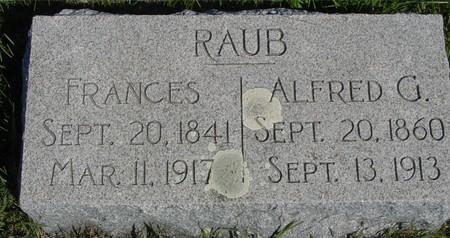 RAUB, ALFRED & FRANCES - Crawford County, Iowa | ALFRED & FRANCES RAUB