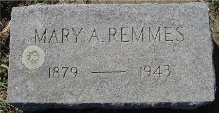 REMMES, MARY A. - Crawford County, Iowa | MARY A. REMMES