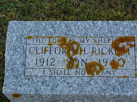 RICKERT, CLIFFORD H. - Crawford County, Iowa   CLIFFORD H. RICKERT