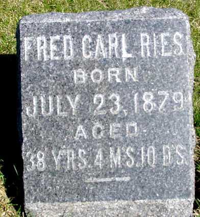 RIES, FRED CARL - Crawford County, Iowa | FRED CARL RIES