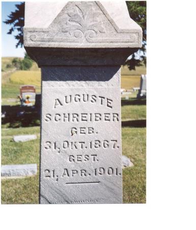 SCHREIBER, AUGUSTE - Crawford County, Iowa | AUGUSTE SCHREIBER