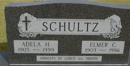 SCHULTZ, ELMER & ADELA H. - Crawford County, Iowa | ELMER & ADELA H. SCHULTZ