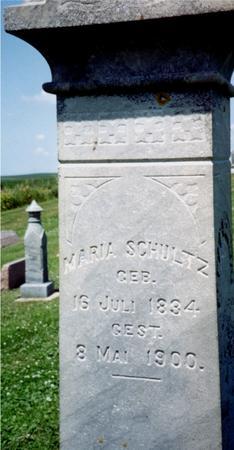 SCHULTZ, MARIA - Crawford County, Iowa | MARIA SCHULTZ