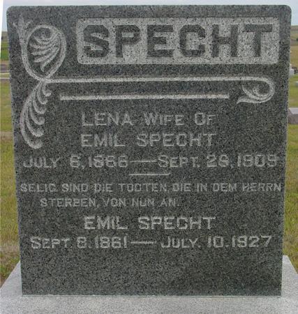 SPECHT, EMIL & LENA - Crawford County, Iowa | EMIL & LENA SPECHT
