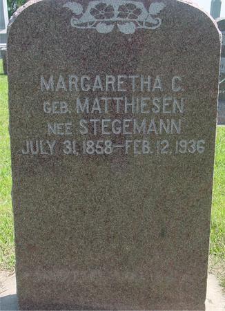 MATTHIESEN STEGEMANN, MARGARETHA C. - Crawford County, Iowa | MARGARETHA C. MATTHIESEN STEGEMANN
