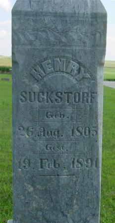 SUCKSTORF, HENRY - Crawford County, Iowa | HENRY SUCKSTORF